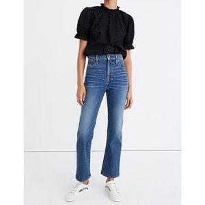 Madewell Slim Demi Boot Crop Jean 29 Petite Blue